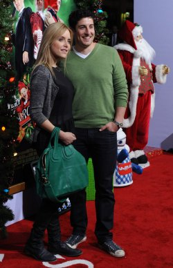 "Jason Biggs and Jenny Mollen attends the premiere of ""A Very Harold & Kumar 3D Christmas"" in Los Angeles"
