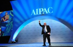 Carl Levin speaks at the AIPAC in Washington