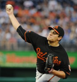 Orioles Hernandez pitches against the Nationals in Washington