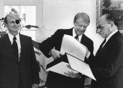 Israeli PM Begin and Prs. Carter Exchange Photo Album