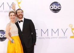 Leslie Mann and Judd Apatow attend the 64th Primetime Emmy Awards in Los Angeles