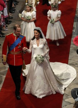 Britain's Prince William and Princess Catherine married in London