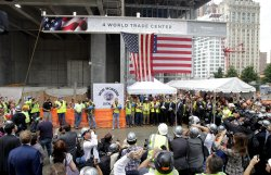Final steel beam ceremony at 4 World Trade Center in New York