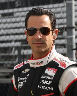 Helio Castroneves tests new road course for inaugural Grand Prix of Indianapolis event at the Indianapolis Motor Speedway