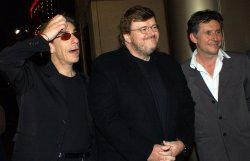 """director Michael Moore film premiere """"Bowling for Columbine"""""""