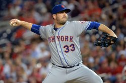 Mets pitcher Matt Harvey pitches in Washington