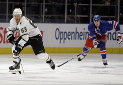 The Dallas Stars Mike Ribeiro against the New York Rangers at Madison Square Garden