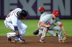 The Atlanta Braves play the Philadelphia Phillies in Atlanta