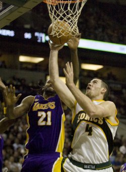 L.A. Lakers vs Seattle SuperSonics