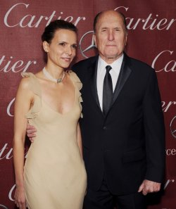 Robert Duvall and Luciana Pedraza arrive at the Palm Springs International Film Festval in Palm Springs, California