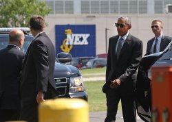 President Obama Arrives At Walter Reed National Military Medical Center