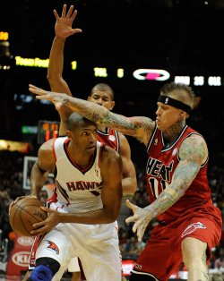 The Atlanta Hawks play the Miami Heat in Atlanta