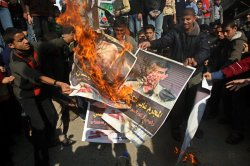 Protest commemorates anniversary of Israel's War in Gaza