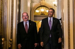 President Obama Meets With Senate Republican Conference On Capitol Hill