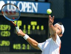 Feliciano Lopez and Tatsuma Ito compete at the U.S. Open in New York