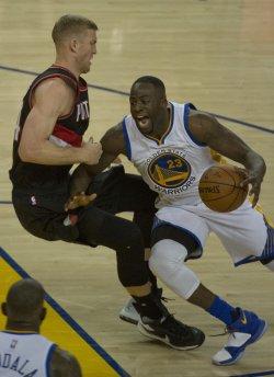 Golden State Warriors Draymond Green shoots