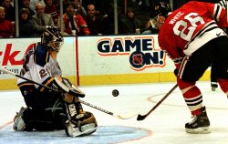 St. Louis Blues vs Chicago Black Hawks hockey