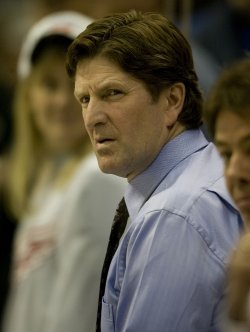 Detroit Red Wings Head Coach Babcock Watches the Colorado Avalanche in Denver