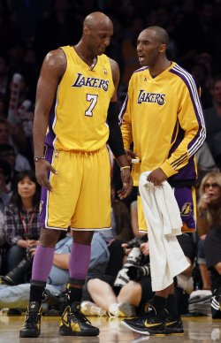 Los Angeles Lakers vs New Orleans Hornets Game 5 NBA Western Conference Playoffs in Los Angeles