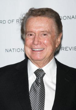 Regis Philbin arrives for the National Board of Review of Motion Pictures Awards Gala in New York