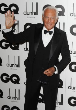 Giorgio Armani attends the GQ Men of the year awards