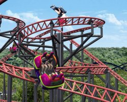 NEW ROLLER COASTER AT SIX FLAGS OF ST. LOUIS