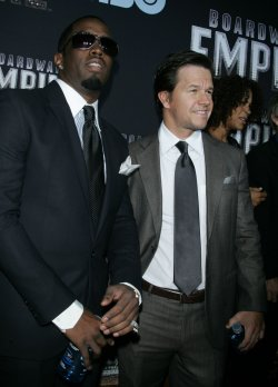 "Mark Wahlberg and P. Diddy arrive for the premiere of ""Boardwalk Empire"" in New York"