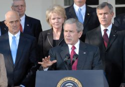 PRESIDENT BUSH, CABINET HOLD FIRST MEETING OF 2007