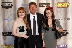 Actors Sean Bean and family attend Spike TV's Scream Awards in Los Angeles