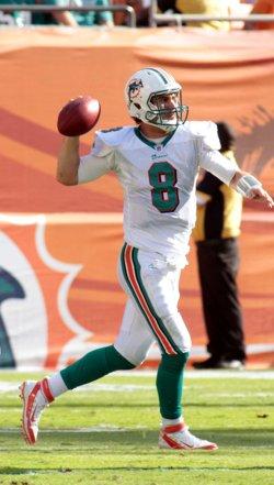 Matt Moore throws in Miami