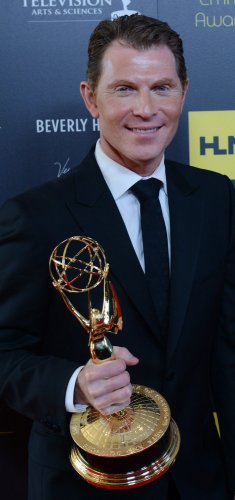 Bobby Flay wins Best Culinary Program award at the Daytime Emmy Awards in Beverly Hills, California..