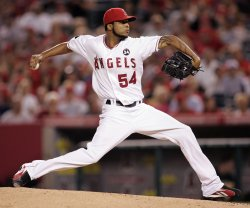 Los Angeles Angels vs Oakland Atheletics in Anaheim, California