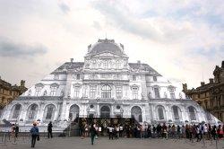 Paris Louvre Pyramid exhibition