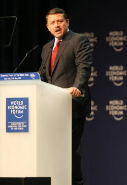 JORDAN'S KING HUSSEIN OPENS WORLD ECONOMIC FORUM