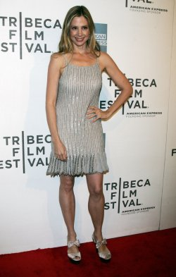 "Mira Sorvino arrives for the Tribeca Film Festival Premiere of ""Angels Crest"" in New York"