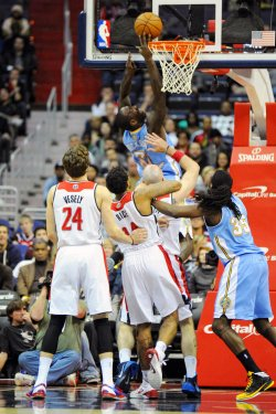Washington Wizards vs Denver Nuggets in Washington