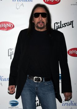 "Ace Frehley arrives for ""A Celebration of Les Paul"" concert in New York"