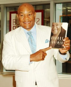 GEORGE FORMAN PROMOS HIS NEW BOOK IN NEW YORK