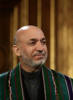 KOFI ANNAN,HAMID KARZAI AND JACK STRAW ATTEND AFGHANISTAN CONFERENCE IN LONDON
