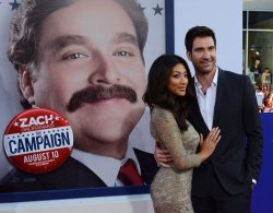 "Dylan McDermott and Shasi Wells attend ""The Campaign"" premiere in Los Angeles"