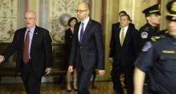Members of Senate Foreign Relations Committee meet Ukraine's PM Yatsenyuk in Washington