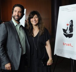 """David Schwimmer and Catherine Keener attend the premiere of """"Trust"""" in Los Angeles"""