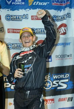 RICKY CARMICHAEL WINS AMP'D MOBILE WORLD SUPERCROSS GP IN VANCOUVER