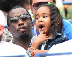 Sean 'P. Diddy' Combs watches semifinal match at the U.S. Open in New York