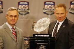 BCS Championship coaches press conference in New Orleans