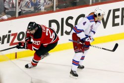 New Jersey Devils host the New York Rangers in Game 6 of the Eastern Conference Finals at the Prudential Center in New Jersey