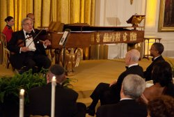 Violinist Itzhak Perlman performs for President Obama in Washington, DC