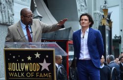 Orlando Bloom honored with star on Hollywood Walk of Fame in Los Angeles