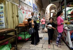 Palestinians Shop Old City Jerusalem Before Friday Prayers