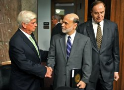 Chairman Bernanke delivers the board's semiannual monetary policy report to congress in Washington